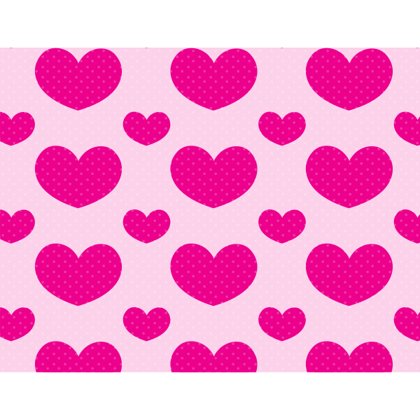 Polka dots love pattern