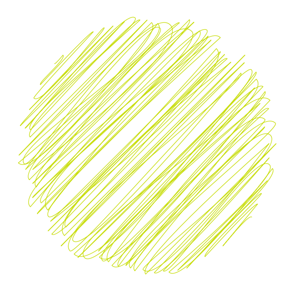 Lime green scribble lines