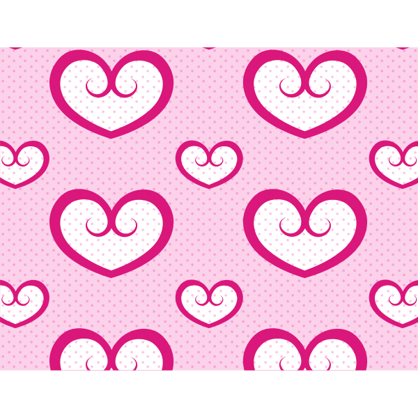 Dotted pattern with hearts
