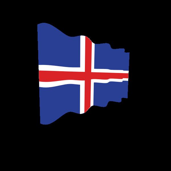 Iceland waving flag