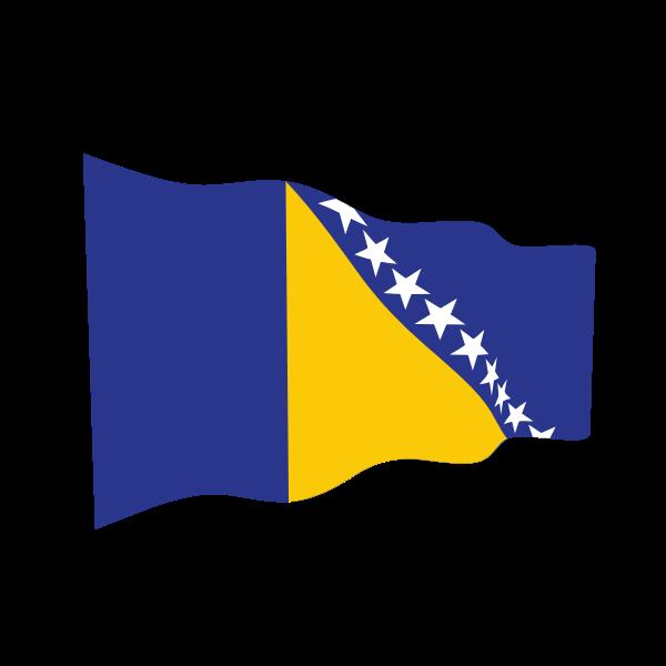 Bosnia and Herzegovina waving flag