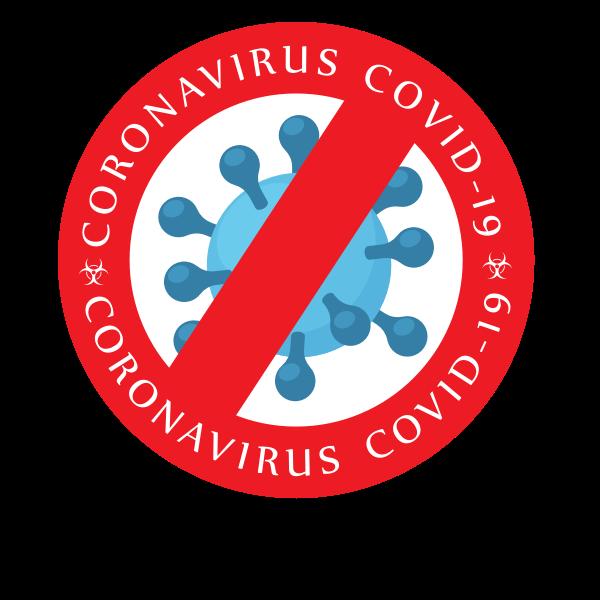 Coronavirus warning sticker