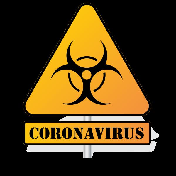 Coronavirus biohazard sign