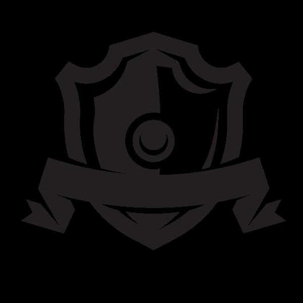 Shield ribbon silhouette