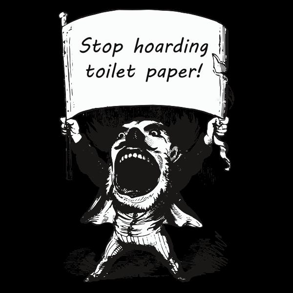 Man screams Stop hoarding