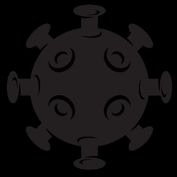 Virus bacteria silhouette