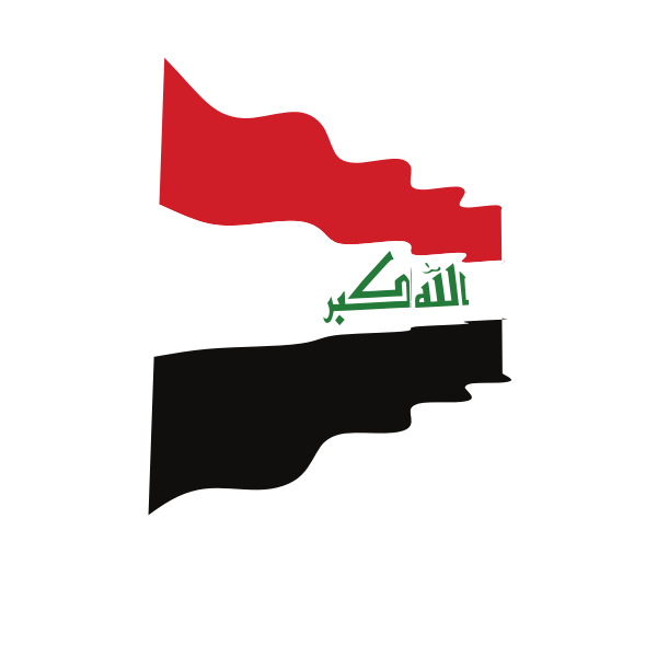 Waving flag of Iraq
