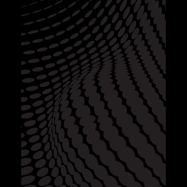 Black waving halftone pattern