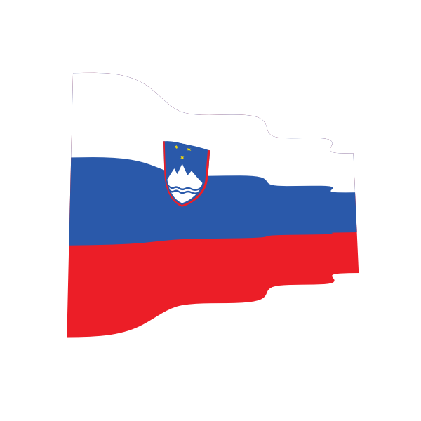 Waving flag of Slovenia