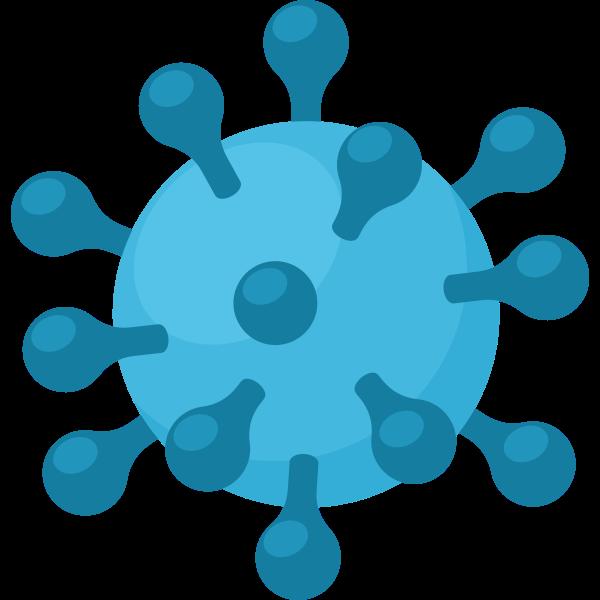 Cartoon coronavirus symbol