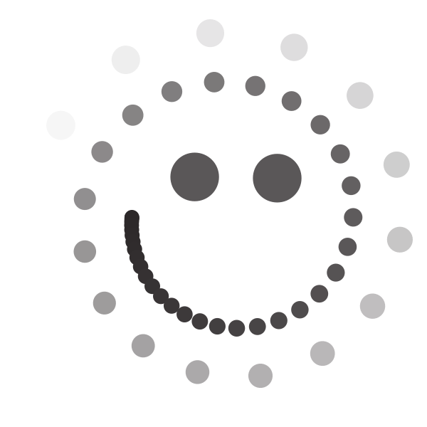 Smiley emoticon with dots