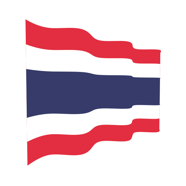Thailand waving flag