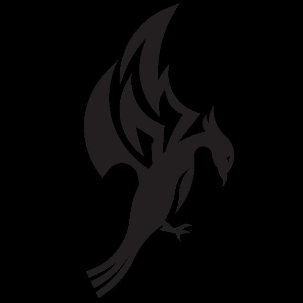 Dragon creature silhouette
