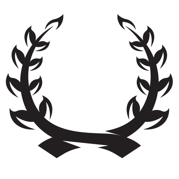 Wreath silhouette clip art