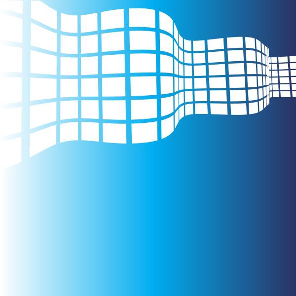Waving white tiles on blue background