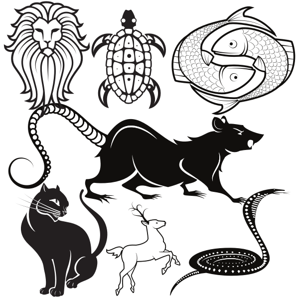 Animals silhouettes SVG pack