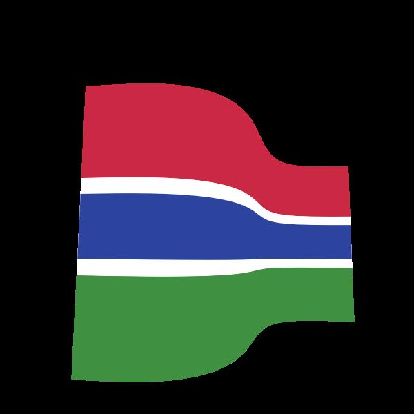 Waving flag of Gambia