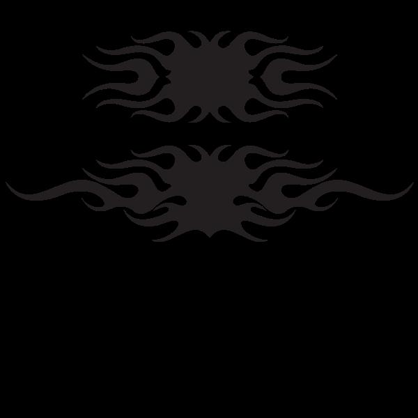 Flames silhouette tattoo clip art