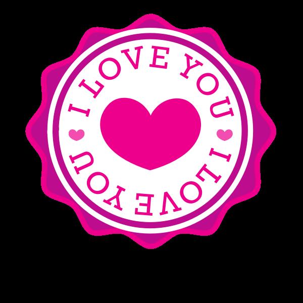 I love you vector sticker