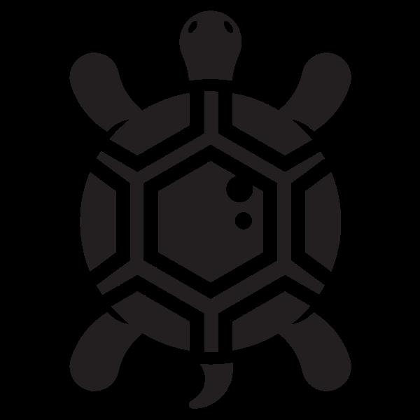 Small turtle silhouette