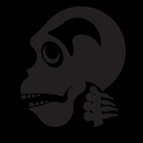 Human cranium silhouette