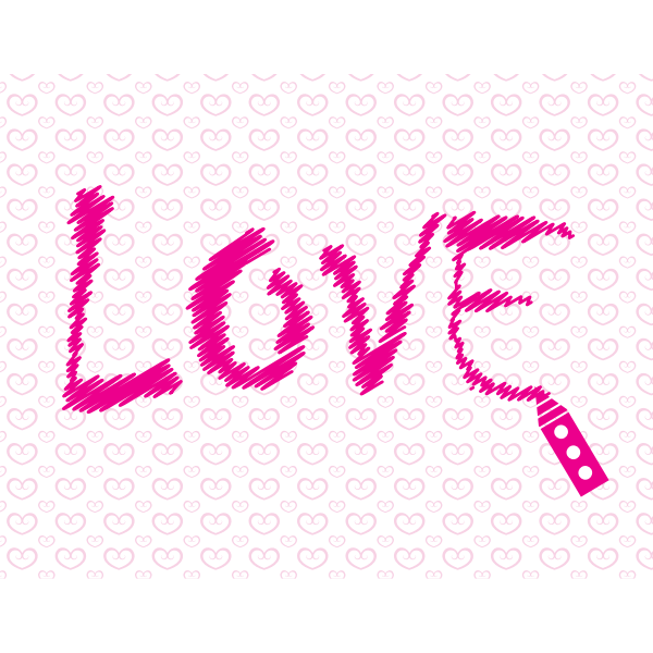 Word love written on the paper