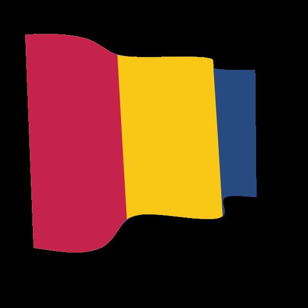 Waving flag of Chad
