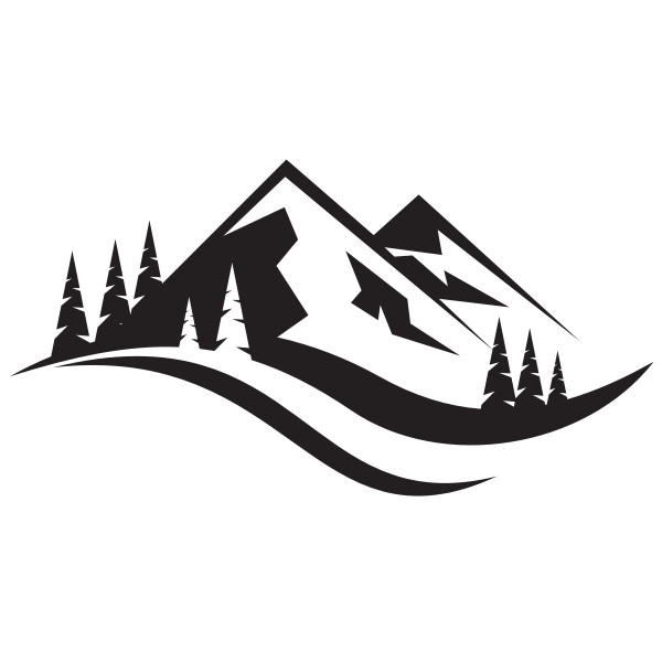 Mountain Landscape Silhouette Free Svg