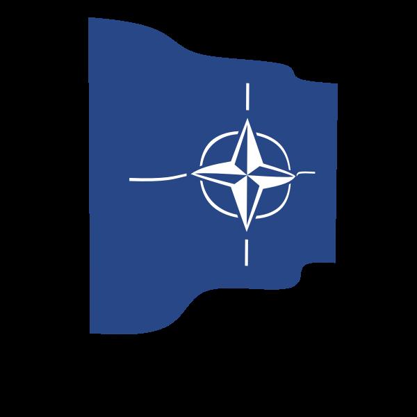 Nato waving flag