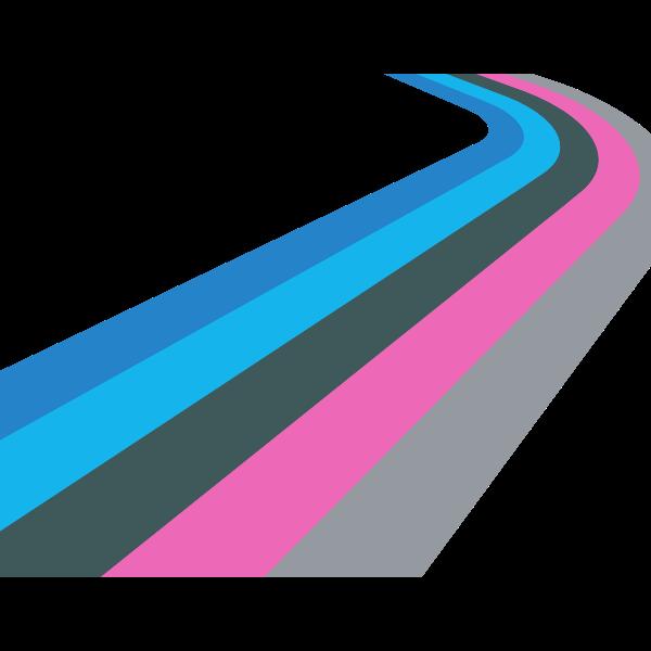 Retro stripes on white background