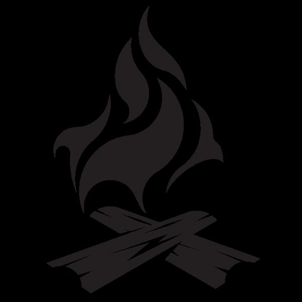 Campfire silhouette