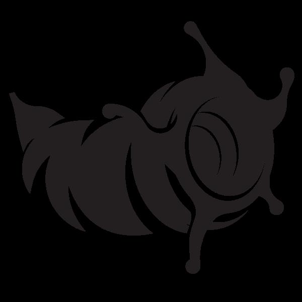 Seashell silhouette clip art