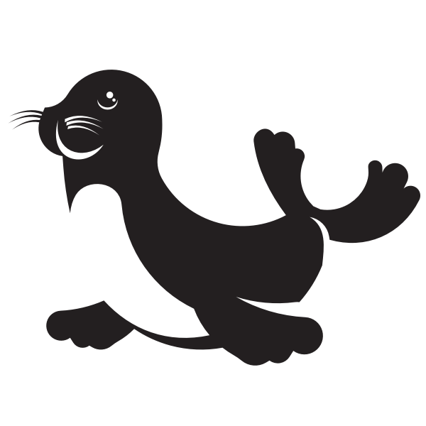 Silhouette of a seal