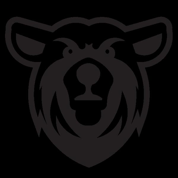 Bear head silhouette