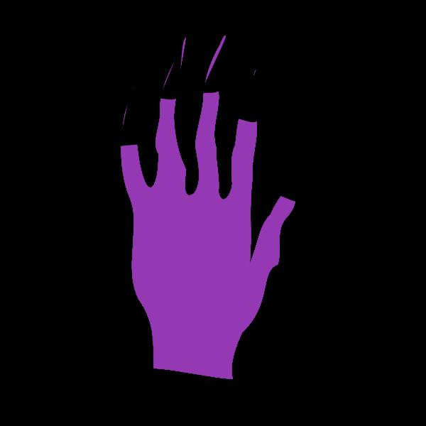 Halloween nails vector illustration