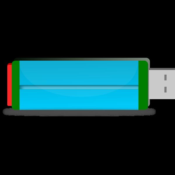Colorful flash drive vector clip art