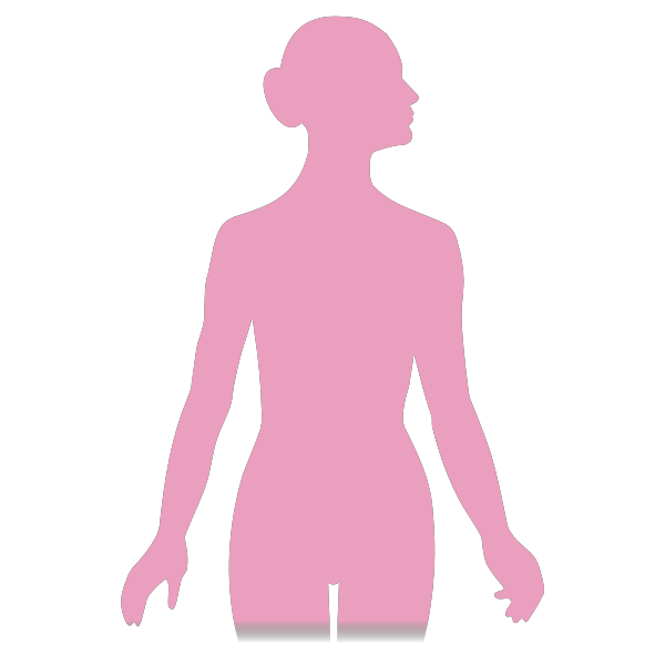 Vector silhouette image of a woman
