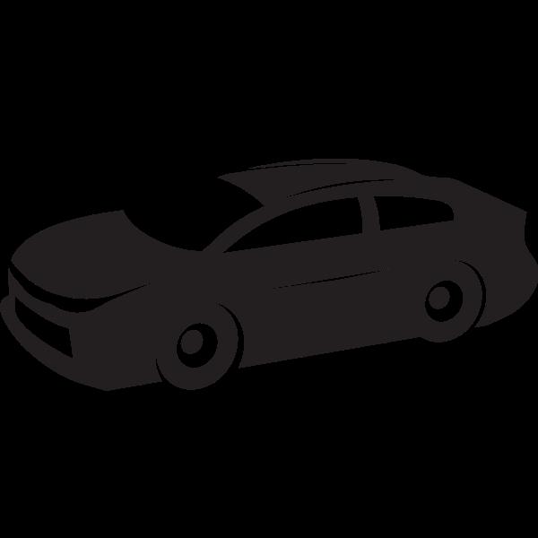 Sports car silhouette stencil art
