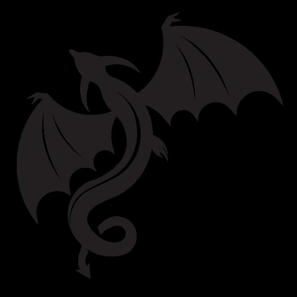 Flying monster silhouette