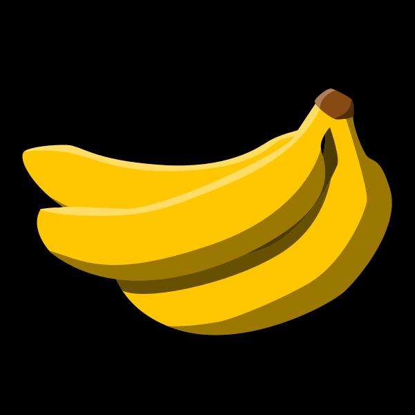 Color sign for banana fruit vector clip art