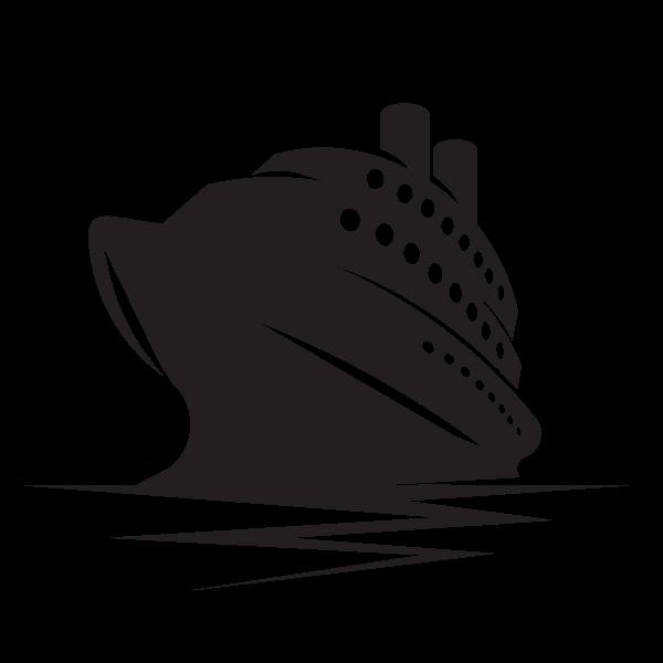 Cruise ship stencil clip art