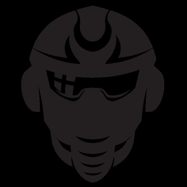 Robotic head silhouette