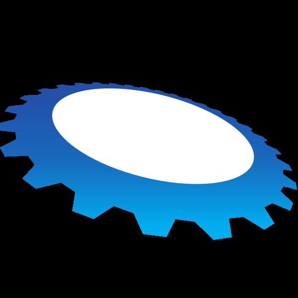 Blue gear shape (#2)