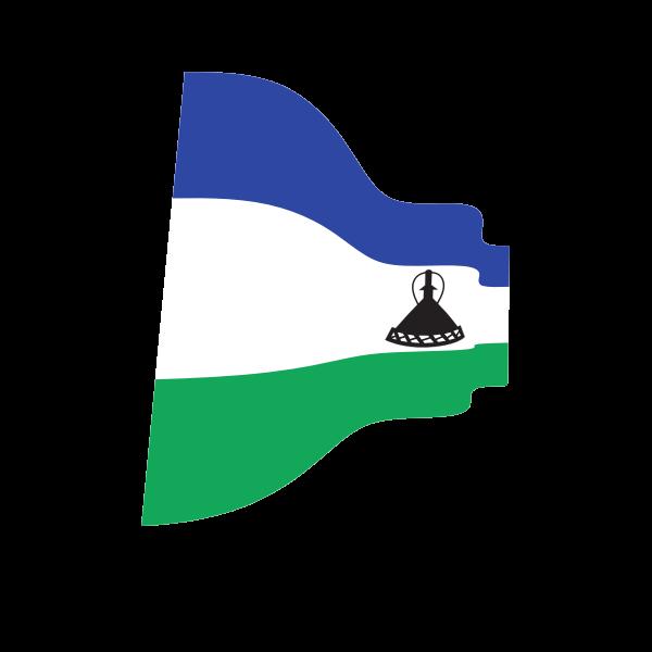 Waving flag of Lesotho