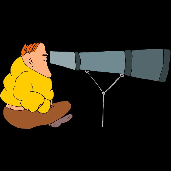 Looking through a binocular