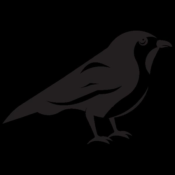 Sparrow bird silhouette