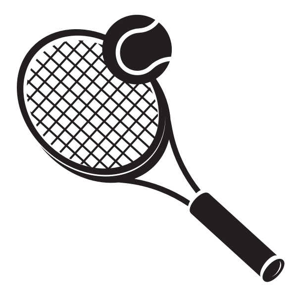 Tennis racket and a ball