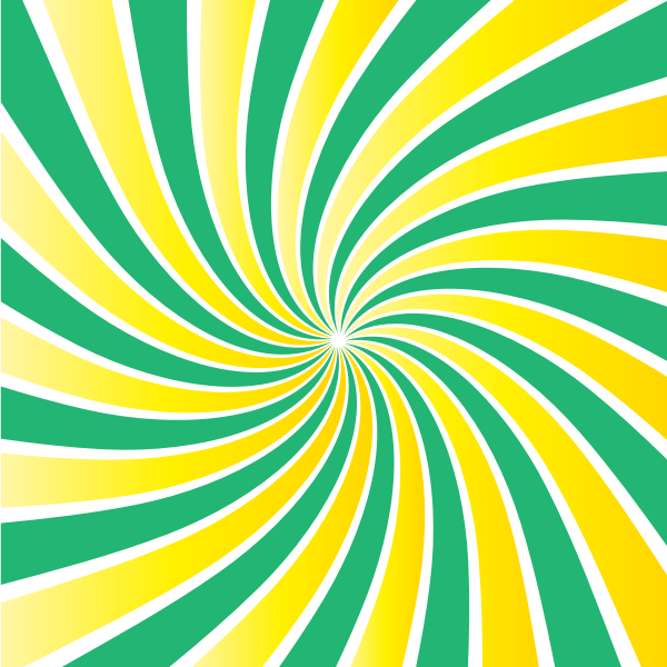 Green yellow radial beams