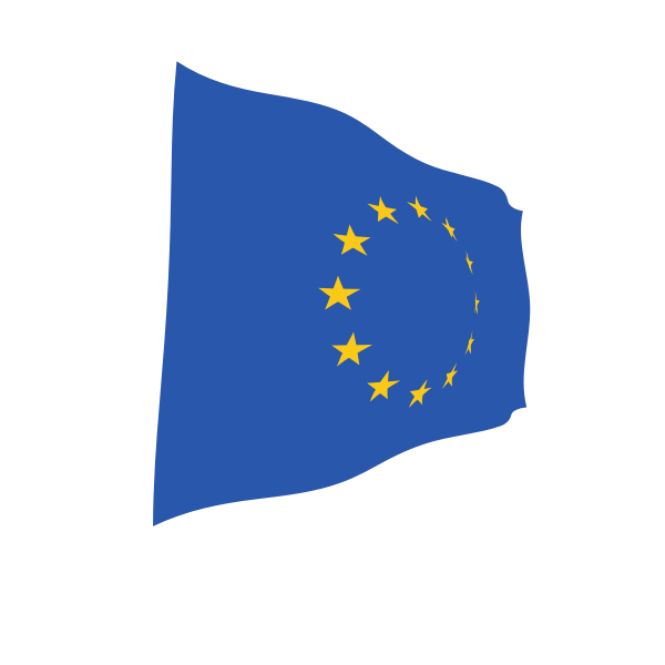 European Union waving flag