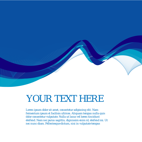 Abstract blue and white background with text